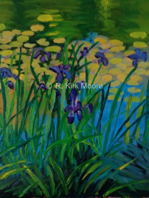 Irises and Lily Pads Day 444 lo res
